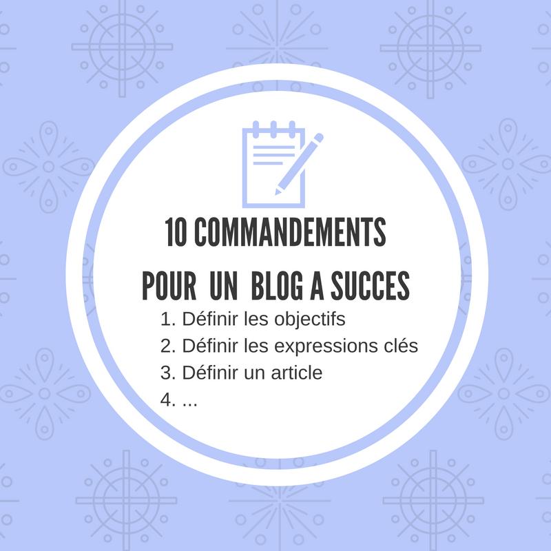 Les 10 commandements des blogs à succès